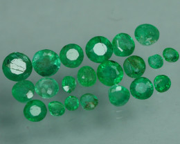 1.115 CRT 21 PCS STUNNING PARCEL COLOMBIAN EMERALD-
