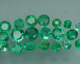 1.205 CRT 20 PCS STUNNING PARCEL COLOMBIAN EMERALD-