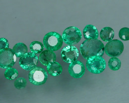 1.630 CRT 21 PCS STUNNING PARCEL COLOMBIAN EMERALD-