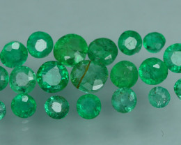 1.155 CRT 20 PCS STUNNING PARCEL COLOMBIAN EMERALD-