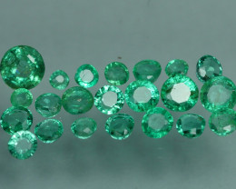 1.325 CRT 22 PCS STUNNING PARCEL COLOMBIAN EMERALD-
