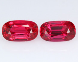 Burmese red spinel, matching set  for Earring, eye clean, rare, excellent c