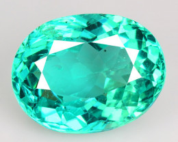 2.28 Cts Un Heated Natural Green Apatite Loose Gemstone