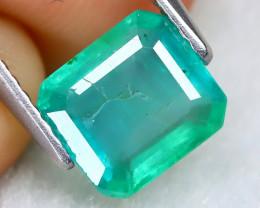 Zambian Emerald 1.47Ct Otogon Cut Natural Green Color Emerald A0104