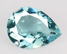 1.24 Cts Un Heated Blue  Natural Aquamarine Loose Gemstone