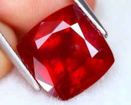 Red Ruby 7.34Ct Square Cut Pigeon Blood Red Ruby B0101