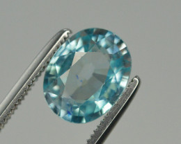 Top Blue ~2.30 Ct Natural Zircon From Cambodia