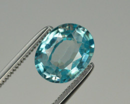 Top Blue ~2.25 Ct Natural Zircon From Cambodia