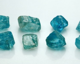 NR!!! 22.20 CTs Natural - Unheated Blue Zircon Rough Lot