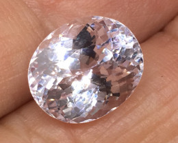6.60 Carat VVS Carat Kunzite Precision Cut and Polished Fabulous Quality !
