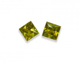 0.63 Cts Stunning Natural Lustrous Sphene Pair