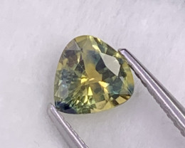 1.08 Cts Certified Rare Combination Blue-Yellow Color Unheated Sapphire