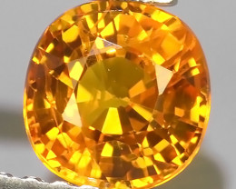 PRIVATE AUCTION 1.00 CTS~AWESOME NICE ORANGEISH-YELLOW SAPPHIRE FACET GENUI