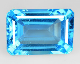 17.04 Cts Super Swiss Blue Natural Topaz Gemstones