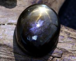 Star Sapphire 20.32Ct Natural Thailand Golden Black Star Sapphire A0306