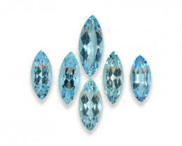 4.59 Cts Stunning Lustrous Natural Aquamarine Lot