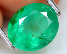 Zambian Emerald 1.66Ct Natural Green Color Zambian Emerald B0307