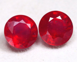 Red Ruby 5.90Ct Round Cut Pigeon Blood Red Ruby B0311