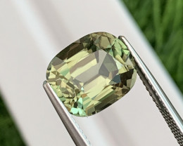5.17 Cts Eye Clean Olive Green Natural Tourmaline Excellent Cut