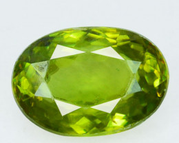 ~OLIVE GREEN~ Natural Sphene 0.85 Cts Oval Cut Madagascar