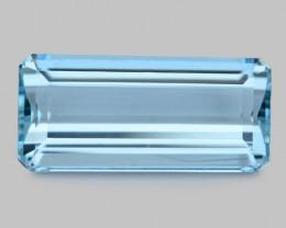 6.13 Cts Un Heated  Santa Maria Blue  Natural Aquamarine Loose Gemstone