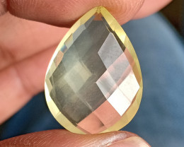 LEMON QUARTZ CHECKERED CUT NATURAL GEMSTONE VA4699