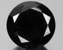 0.91 Cts Amazing Rare Fancy Black Color Natural Loose Diamond