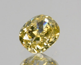 Beautiful!! 0.09 Cts Natural Untreated Diamond Fancy Yellow Oval Cut Afr