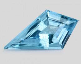 4.85 Cts Un Heated  Santa Maria Blue  Natural Aquamarine Loose Gemstone