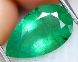 Zambian Emerald 2.25Ct Pear Cut Natural Green Color Emerald C0405