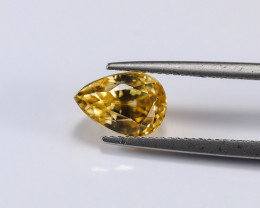 4.95ct. Lab Certified Yellow Cambodian Zircon