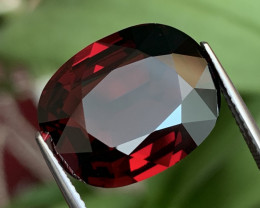 AIGS 17.73 Cts Top Quality Dark Red Spessartite Garnet Flawless