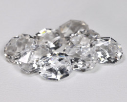 White Zircon 12.28Ct VVS 8Pcs Master Cut Natural White Zircon Lot AT0007