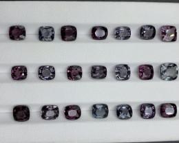 24.47 CT Spinel Gemstones Parcel/ 21 PC