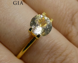 1.64 ct Round Sapphire GIA Certified Sri Lankan Unheated