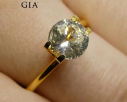 1.62 ct Round White Sapphire GIA Certified