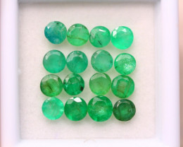 3.78Ct Natural Zambia Green Emerald Round Cut Lot A977