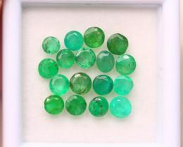 3.15Ct Natural Zambia Green Emerald Round Cut Lot A978