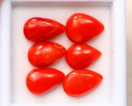 7.88Ct Natural Red Itali Coral Cabochon Lot A980