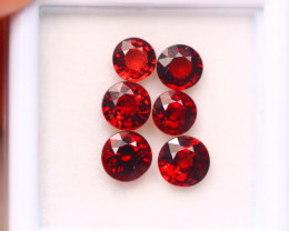 4.34Ct Natural Rhodolite Garnet Round Cut Lot A984