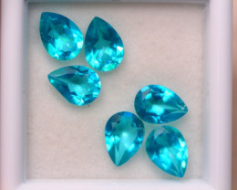 4.93Ct Natural Paraiba Color Topaz Pear Cut Lot A989