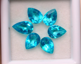5.17Ct Natural Paraiba Color Topaz Pear Cut Lot A990