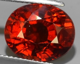 8.55 CTS EXCELLENT TOP LUSTER HESSONITE GARNET OVAL BEAUTY~400$