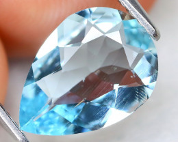 Aquamarine 1.67Ct Pear Cut Natural Light Blue Aquamarine A0504
