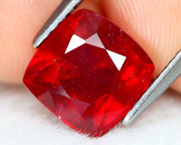 Red Ruby 3.11Ct Cushion Cut Pigeon Blood Red Ruby A0505