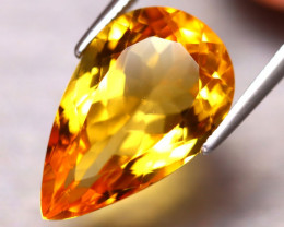 Citrine 7.34Ct Natural Golden Yellow Color Citrine EF0812/A2