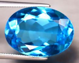 Swiss Topaz 15.26Ct Natural VVS Swiss Blue Topaz DF0913/A48