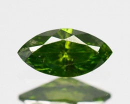 Hi - Stunning  0.06 Cts Natural Diamond Vivid Green Marquise Africa