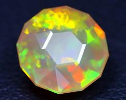 Welo Opal 3.04Ct Master Cut Natural Ethiopian Flash Color Welo Opal AT0036