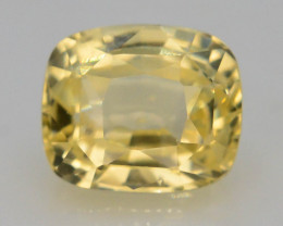 Top Color 0.95 ct Natural Yellow Sapphire